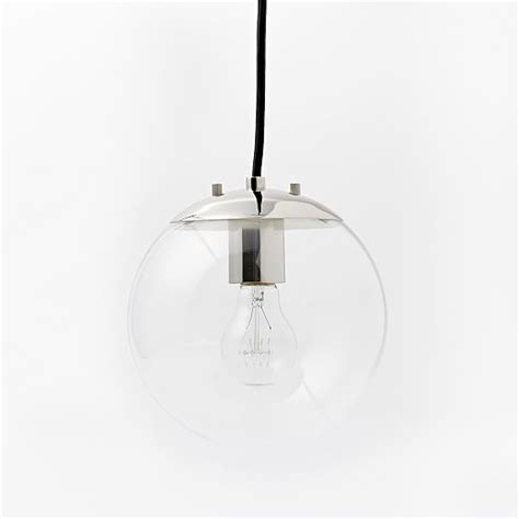globe pendant light clear globe pendant clear west elm