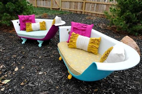 clawfoot bathtub couch upcycled claw foot tub sofa