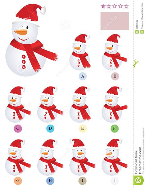 Find With Pictures Find The Same Snowman Eps Stock Photos Image 22138193