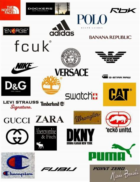 best brands characteristics of best clothing brand logos