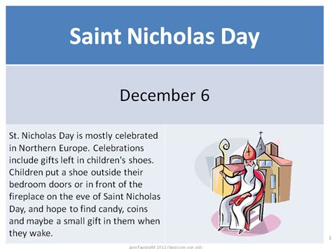 what is the story of day saturday st nicholas day devoted to vocabulary