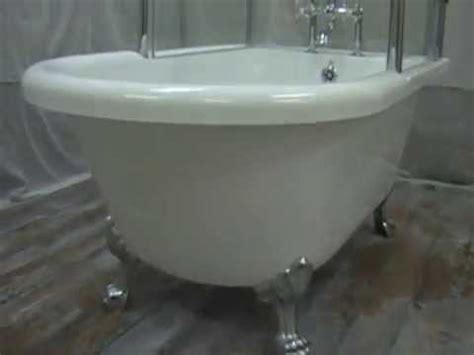 footed tub shower oasis clawfoot tub shower combination