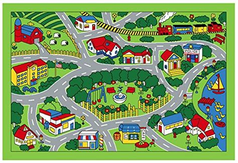 Amazon Round Rugs Learning Through Play Kids Road Rugs For Toy Cars