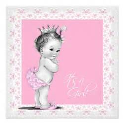 Baby girl shower invitation this cute pink and gray baby shower