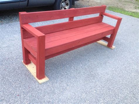 used garden bench outdoor bench with color added i used ace brand redwood