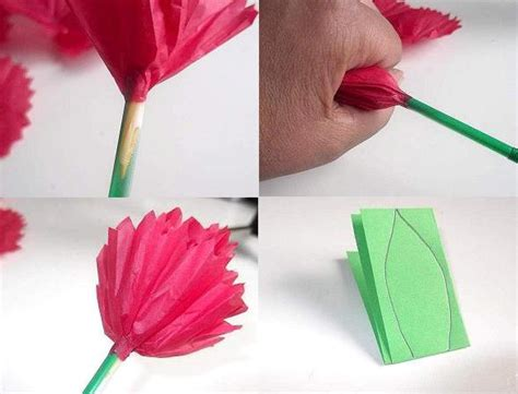 How To Make Flowers With Tissue Paper - make tissue paper flowers