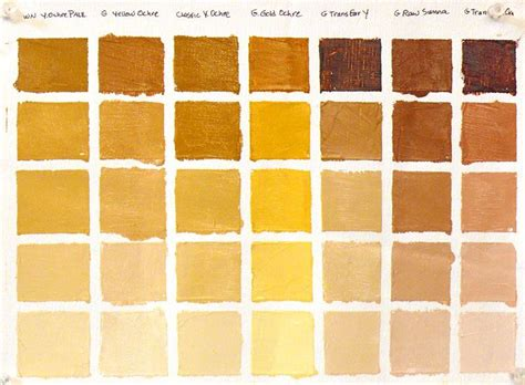 color ochre ochre palette hues of ochre