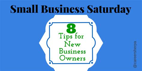 8 Tips On Letting And Finding New by Small Business Saturday 8 Tips For New Business Owners