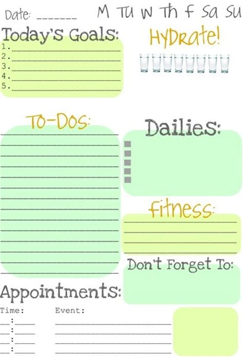 get organized organizer printable sheets to do list daily to do list get organized pinterest