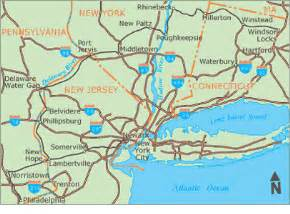 Map Connecticut New York by Bike Wedding Planned Route