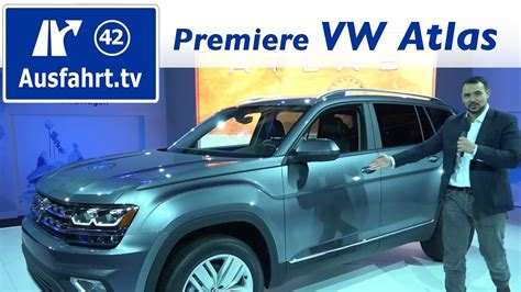 weltpremiere volkswagen vw atlas usa youtube