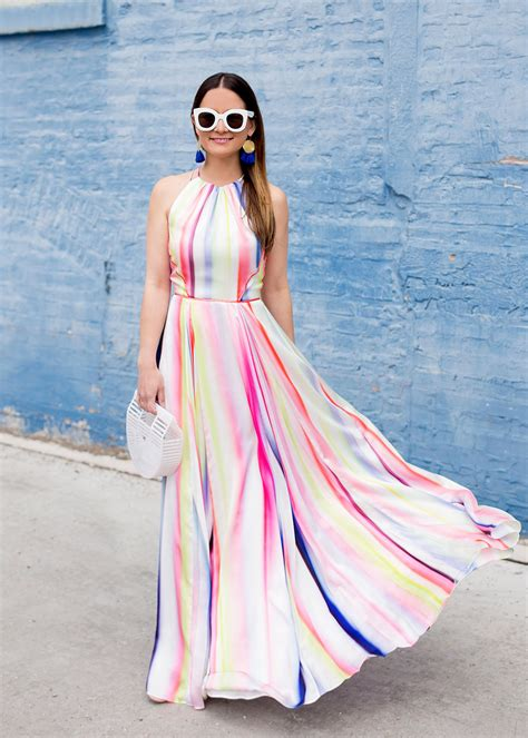 Maxy Stripe multicolor stripe maxi dress