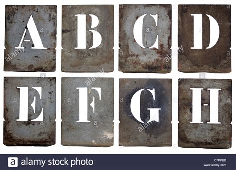 metal stencil letters part of an entire
