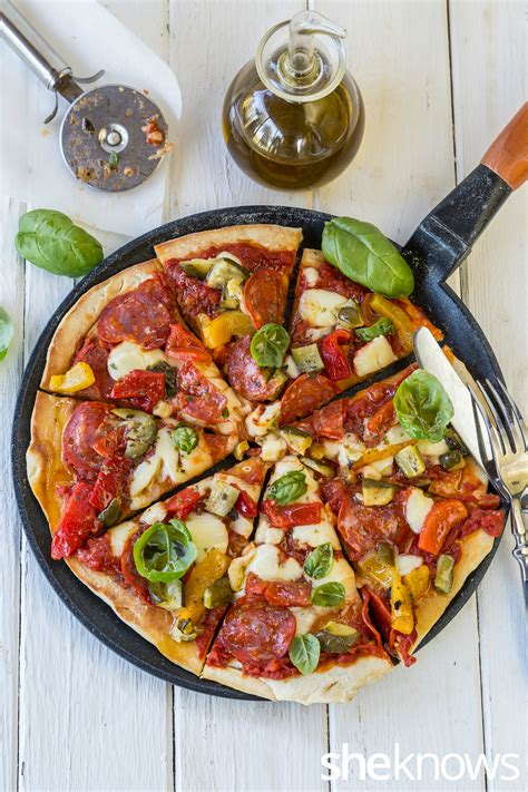 how to make skillet pizza on the stove top recipe the one pot wonder skillet combo pizza without an oven