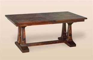 Distressed Trestle Dining Table Amish Rustic Plank Trestle Dining Table Solid Wood Expandable Distressed 42x72 Ebay