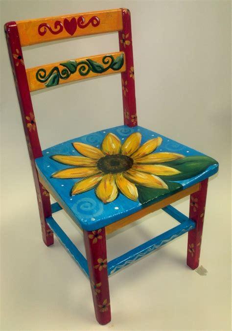 painted armchair sunflower chair paint fun pinterest
