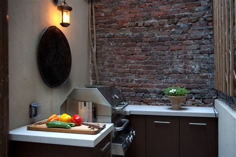 kitchen grill indian brooklyn outdoor kitchen village townhouse by robin key landscape architecture new york townhouse