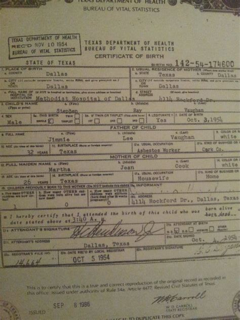 srvs birth certificate stevie ray vaughan stevie ray vaughan stevie ray ray vaughan