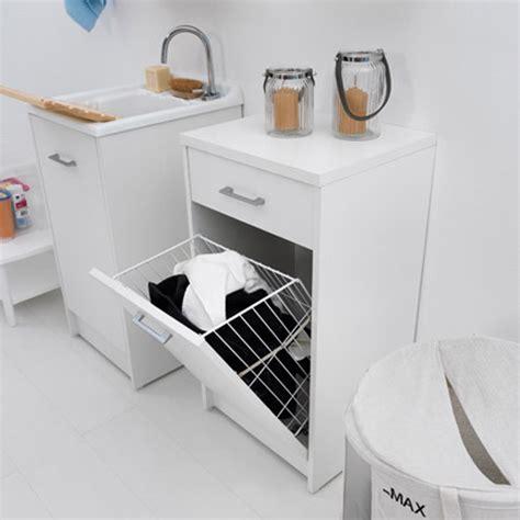 mobile bagno con portabiancheria mobile con cesto portabiancheria e cassetto