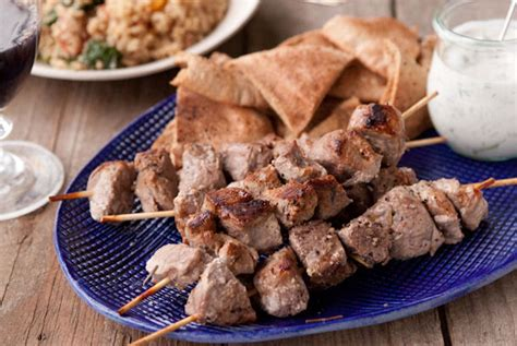 lamb shish kebab recipe marinated lamb kebabs epicurus com recipes armenian lamb shish kebabs