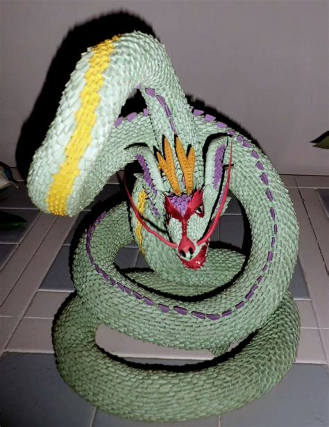 3d Origami Pictures - 3d origami serpent 2 by dfoosdc on deviantart