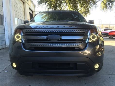 Jeep Car Bed 2015 Ford Explorer Halo Lights And Blackouts Window