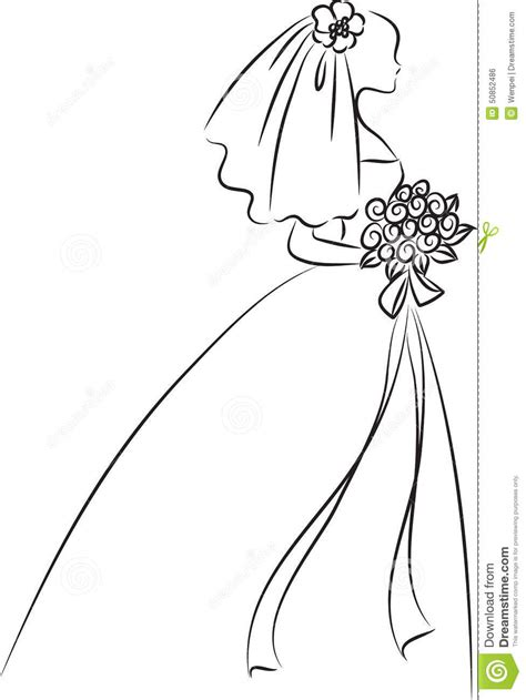 braut zeichnung bride stock illustration image 50852486