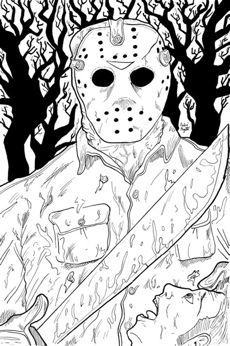 free printable jason mask jason vorhees free coloring pages