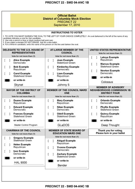 ballot template voting ballot template images