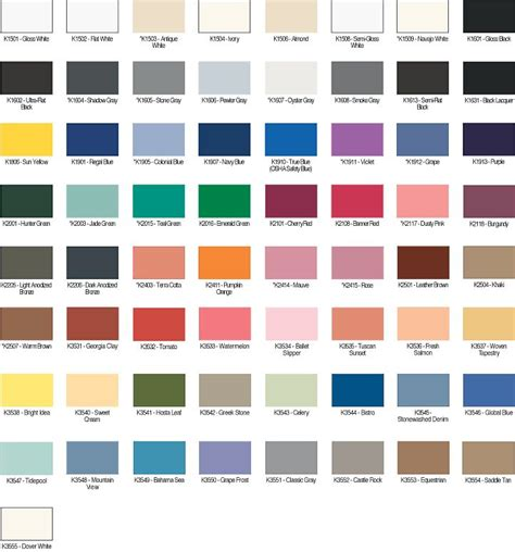 kwal color paint chart home design colors