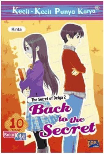 Buku Novel The Secret Of A Happy bukukita kkpk the secret of detya 2 back to the secret