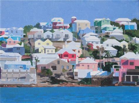 House Blue Print Alex Allardyce Art Paintings Of Bermuda Bermuda