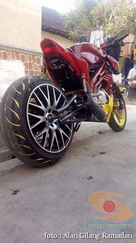 As Roda Belakang Megapro Gl Pro inspirasi megapro memakai ban tapak lebar belakang setia1heri