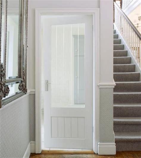 primed dordogne glazed stile rail doors