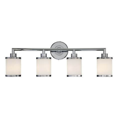 4 bulb bathroom light fixtures shop millennium lighting 4 light chrome standard bathroom