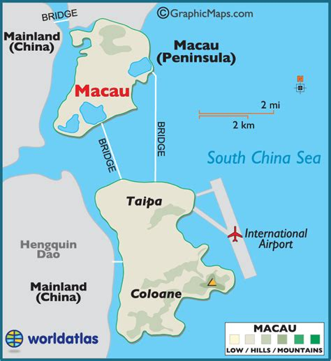 macau in world map macau large color map