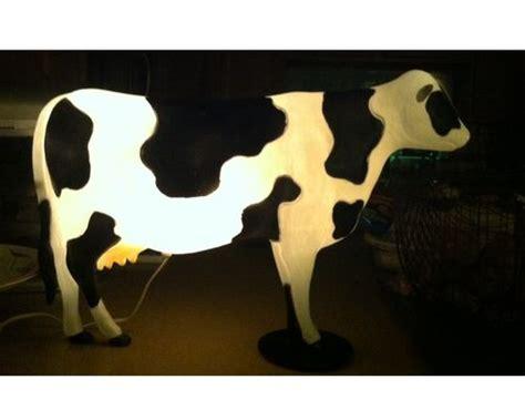 cow lights vintage plastic cow lawn ornament l light wiltsie