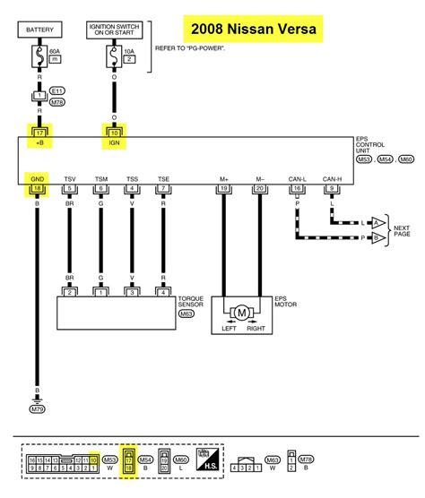 nissan versa wiring diagrams 2009 wiring diagram and