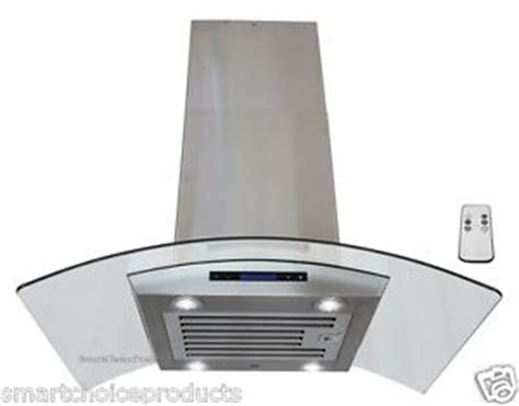 36 Kitchen Island 36 Quot Island Mount Stainless Steel Glass Range Hood Kitchen