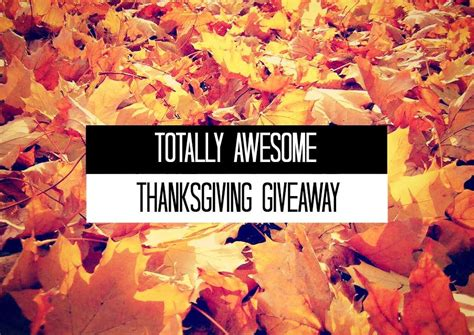 Thanksgiving Sweepstakes - totally awesome thanksgiving giveaway 300