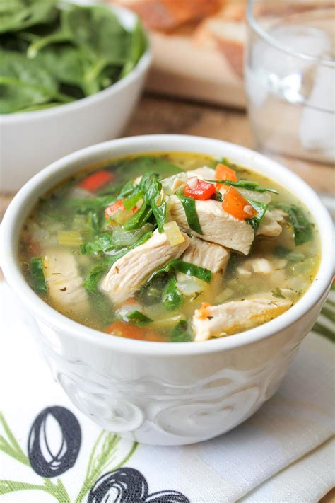 chicken broth soup recipe vegetable chicken vegetable soup with spinach