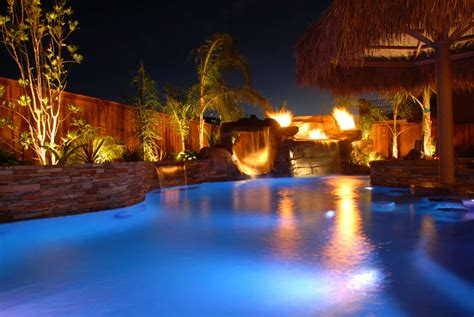 pool at night three benefits of saltwater pools every homeowner should