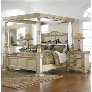 Broyhill Canopy Bedroom Set Ballentynes Hill King Size Poster Bed W