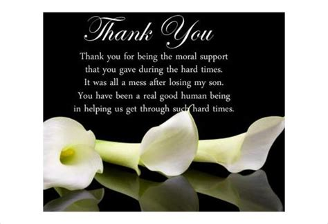 template funeral thank you cards how to write thank you cards for funeral free premium