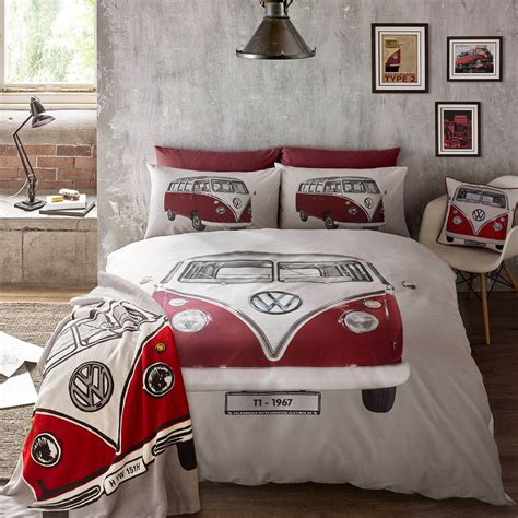 vw bedroom accessories vw classic cer van volkswagen duvet quilt cover bedding
