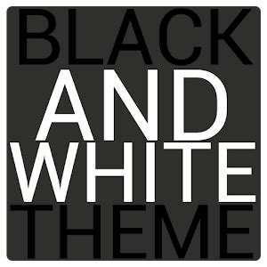 themes black white black white icon theme free android apps on google play