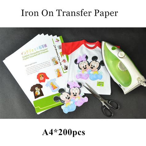 iron on printing paper for t shirts 200pcs lot wholesale iron on inkjet heat transfer