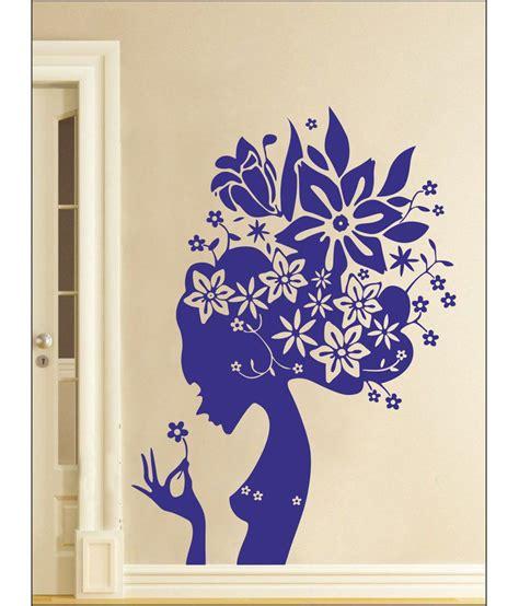 Blue Wall Stickers wall1ders flower blue wall stickers buy wall1ders