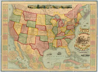 american union railroad map of the united states haasis