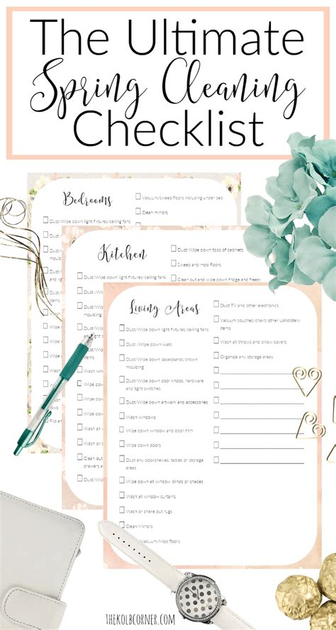 the ultimate spring cleaning guide bonus spring cleaning the ultimate spring cleaning checklist free printable